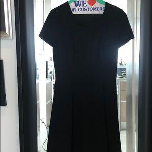 Halston Heritage Black flare skirt dress.